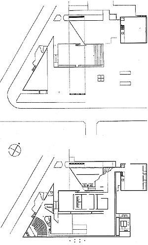 MuBE. Plantas da praça e do museu