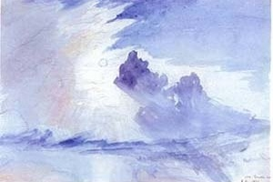 """Estudo nuvens"", John Ruskin.  [Ruskin´s Library, University of Lancaster, 2004]"