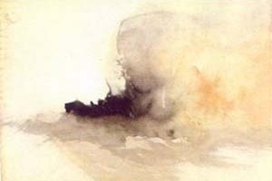 """""""Ship on fire"""", Joseph Turner, 1826-30.  [Turner, Londres, Taschen, 2000, p. 75]"""