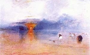 """Por do sol"", Joseph Turner.  [John Ruskin and the Victorian Eye. Nova York, Harry Abrams, 1993, p. 124]"