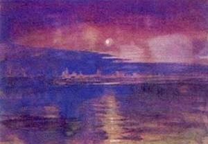 """""""Moon light in the lagoon"""", Ruskin. [Ruskin´s Library, University of Lancaster, 2004]"""