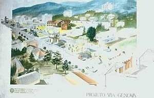 Imagem 2 – Projeto Via Gênova. Perspectiva original, mostrando o projeto completo