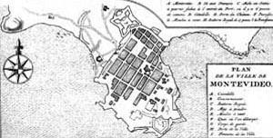 Plano de Montevidéu, século 18