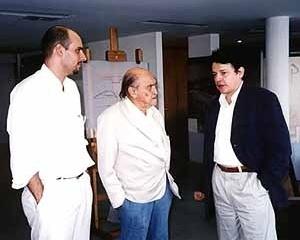 Otavio Leonídio, Oscar Niemeyer e Christian de Portzamparc, Rio de Janeiro, 1998