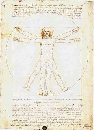 Cânone de proporções de Vitruvius, Leonardo da Vinci