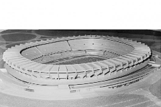 Maquete Estádio Castelão (1969)  [Museu da Imagem e do Som do Ceará]