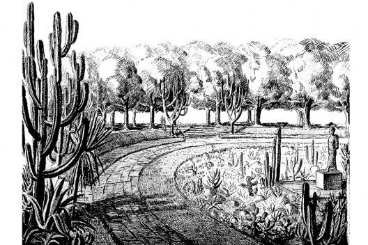 Praça Euclides da Cunha, nanquim sobre papel, 1935 [MARX, Roberto Burle. Arte e paisagem]
