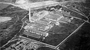 Foto aérea da antiga fábrica Tacaruna