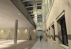 Agência Central e Espaço Cultural dos Correios, Una Arquitetos, perspectiva interna