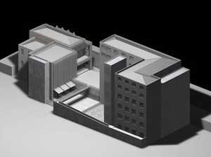 Centro Universitário Maria Antonia e Instituto de Arte Contemporânea, Una Arquitetos, foto da maquete, projeto final