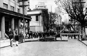 Faculdade de Filosofia, Ciências e Letras da USP na Rua Maria Antônia, conflito de 1968