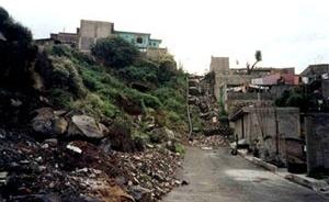 Assentamento irregular na serra de Santa Catalina, delegação Iztapalapa Distrito Federal