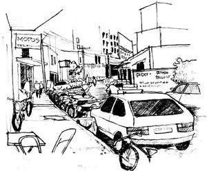 Problemas urbanos: trânsito e acessibilidade<br />Ilustração Ítalo Stephan