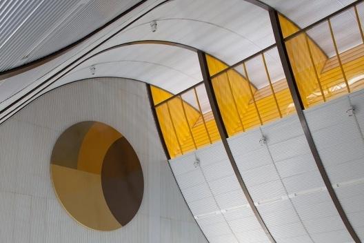 Hospital Sarah em Brasília, abertura zenital de ventilação<br />Foto Nelson Kon