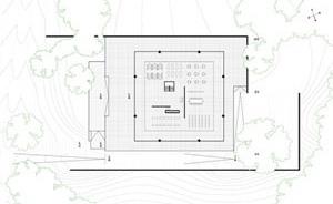 Edifício administrativo da Run Bacardi, Mies Van der Rohe, 1957, Cuba. Desenhos realizados por José Ma. Pellejero, Luis López [Història en Obres. portal d'història de l'arquitectura moderna, n. 01/2007]
