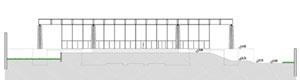 Ed. administrativo da Run Bacardi, Mies Van der Rohe, 1957, Cuba. Desenhos realizados por José Ma. Pellejero, Luis López [Història en Obres. portal d'història de l'arquitectura moderna. n. 01/2007]