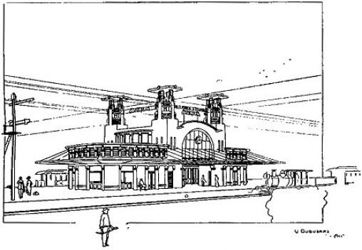 Estação de trem, Mainrinque SP, arquiteto Victor Dubugras