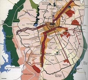 Zoneamento de Curitiba, IPPUC [MEURS, Paul; AGRICOLA, Esther (org). Brazilië: laboratorium van architectuur en stedenbouw]