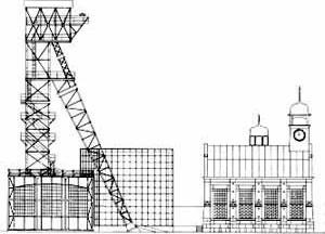 """Galeria """"Arquitetura e Trabalho"""" na extinta mina Consolidation [IBA Emscher Park]"""
