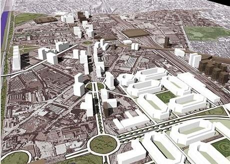 Figura 16 – Revisão da Operação Urbana Água Branca – Imagem Síntese. Maquete eletrônica: Marcelo Fonseca Ignatios