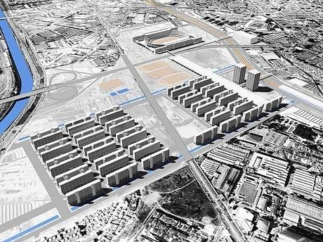 Figura 3 – Projeto Olímpico – Vila Olímpica e Estádio Olímpico: Paulo Mendes da Rocha e Equipe. Maquete eletrônica:  Roberto Klein