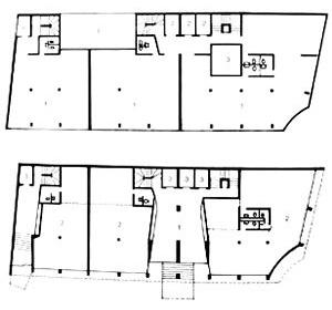 Edifício ABC, plantas térreo e tipo