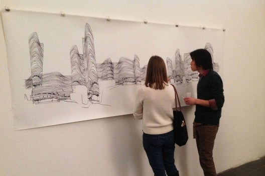 """Architettura del Disegno"", Galleria Srisa, detalhe ""Copanização"", sala 1, Florença, 2013. <br />Foto Zeuler Lima"