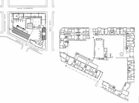Complexo Cuareim, habitação de interesse social, implantação, Montevidéu, anos 1990, projeto do arquiteto Nelson Inda<br />Imagem divulgação