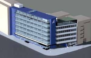 Edifício de Escritórios, Berlim, 2000/2001. Reforma e extensão de uma obra dos anos 60
