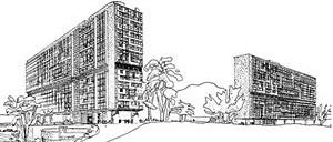 nité d'Habitation, Marselha, 1946-52. Le Corbusier