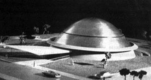 Planetário Municipal, 1955. Eduardo Corona e Roberto Goulart Tibau