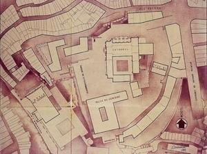 Fig. 12 - Projeto de Arranjo Urbanístico da Zona da Sé e dos Paços do Conselho, para as Comemorações do Duplo Centenário em 1940, Arménio Losa, 2ª solução