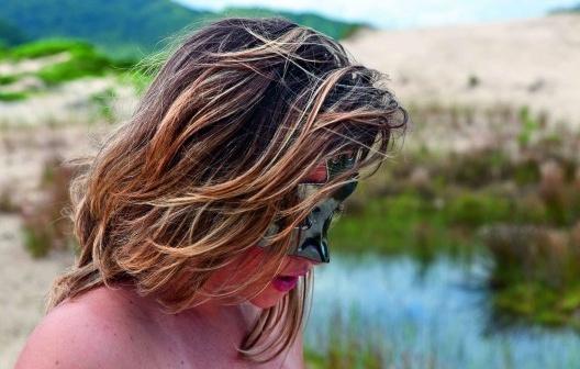 Retrato de Fê. Açores, Florianópolis, 2012<br />Foto Boris Kossoy