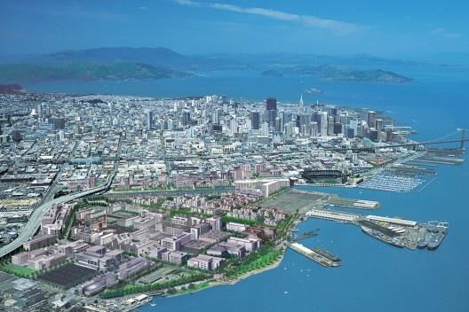 O projeto urbano de Mission Bay em simulação eletrônica junto à fábrica urbana de São Francisco [University of California]
