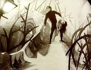Cena do filme O Gabinete do Dr. Caligari, de Robert Wiene, Alemanha, 1919