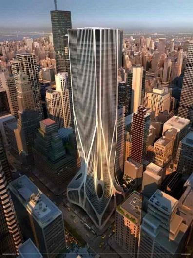 Edifício Park Avenue 425, projeto finalista do concurso, Arquiteta Zaha Hadid (Zaha Hadid Architects) [site www.e-architect.com]