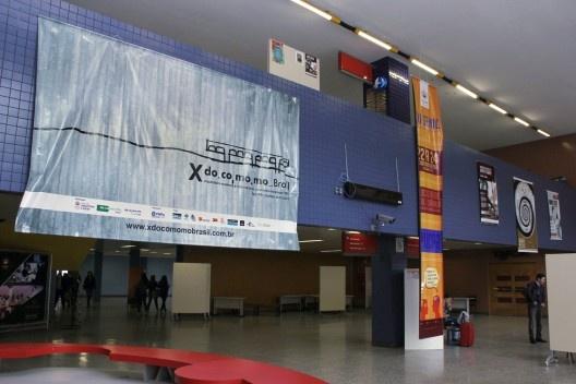 Banner do evento no Saguão do Bloco Azul<br />Foto Michelle Schneider