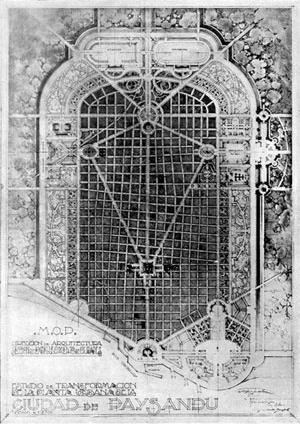 Plano Beaux Arts para Paysandú, Uruguai, 1920