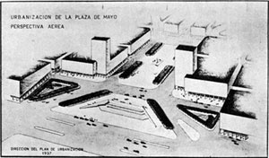 Projeto de Urbanização da Plaza de Mayo do Plano de Buenos Aires de Della Paolera, 1937 (Coleção CEDODAL)