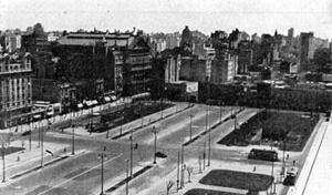 Abertura da Avenida Norte Sul com o espaço já demolido e transformado em 1939