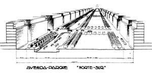 Avenida Parque Norte-Sul na visão de Jorge Kálnay e Los Amigos de la Ciudad, 1935