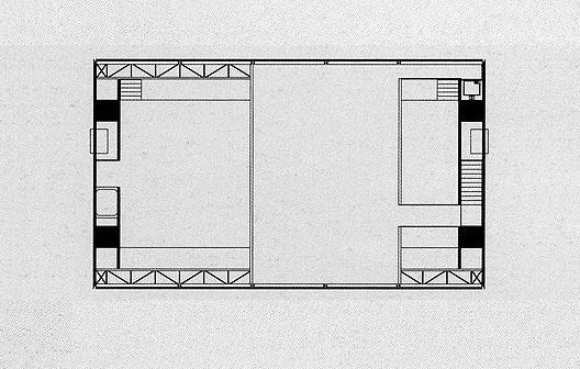 Loja Forma, planta mezanino, São Paulo, 1987. Arquiteto Paulo Mendes da Rocha<br />Imagem divulgação  [PIÑÓN, Helio. Paulo Mendes da Rocha. São Paulo, Romano Guerra Editora, 2002]