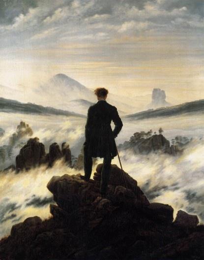 O peregrino sobre o mar de brumas. Casper David Friedrich, 1818