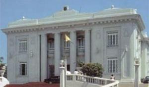 Palácio do Governo do Acre, Construído por Hugo Carneiro, pelo arquiteto Massler, inaugurado na década de 40 do século XX [Tomada pela autora em 1995]