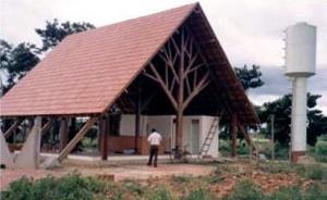 Construção destinada ao aeroporto de Xapuri, linguagem orgânica, 1999 [COSTA, 2002, p.150]