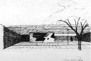 Mies van der Rohe, Casa con tres patios, 1934