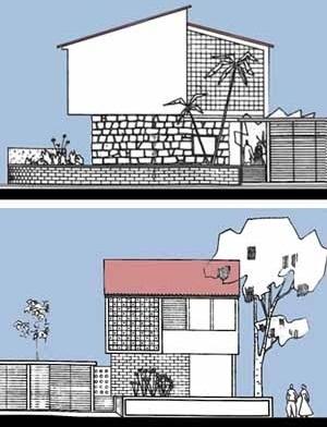 Figura 4. Fachadas de casas do conjunto