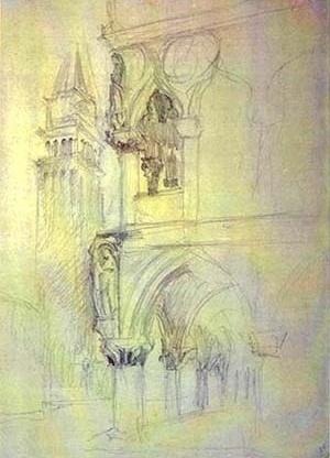 """Estudo Veneza"", John Ruskin.  [Ruskin´s Library, University of Lancaster, 2004]"