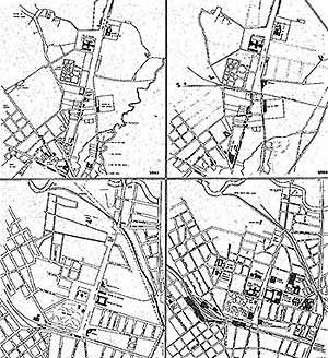 1.1 Esquema gráfico de etapas crescimento urbano da Luz Fonte: CESAR, R. C, FRANCO, L. R. C., BRUNA, P. J. V, 1977