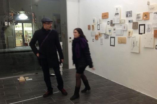 """Architettura del Disegno"", Galleria Srisa, desenho-instalação ""Cornucópia"", sala 3, Florença, 2013. <br />Foto Zeuler Lima"